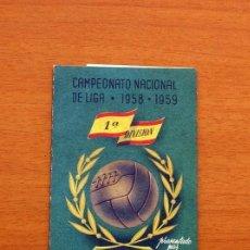 Coleccionismo deportivo: CEREGUMIL - FÚTBOL - CALENDARIO DE LIGA 1958-1959, 58-59 DE PRIMERA DIVISIÓN. Lote 147339462