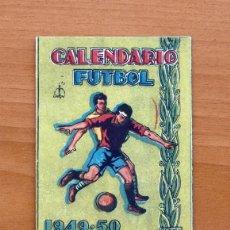 Coleccionismo deportivo: CALENDARIO DE LIGA 1949-1950, 49-50 - PUBLICIDAD CRESPO EDICIONES - HOJA DEL LUNES - VALENCIA. Lote 147357918