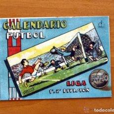 Coleccionismo deportivo: CALENDARIO DE LIGA 1949-1950, 49-50 - PUBLICIDAD CRESPO EDICIONES - HOJA DEL LUNES - VALENCIA. Lote 147358630