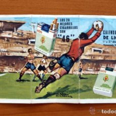 Coleccionismo deportivo: CALENDARIO DE LIGA 1972-1973, 72-73 - PUBLICIDAD CIGARRILLOS 46. Lote 147359522