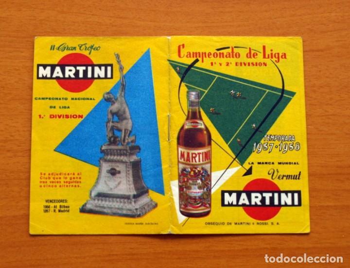 CALENDARIO DE LIGA 1957-1958, 57-58 - VERMUT MARTINI ROSSI (Coleccionismo Deportivo - Documentos de Deportes - Calendarios)