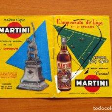 Coleccionismo deportivo: CALENDARIO DE LIGA 1957-1958, 57-58 - VERMUT MARTINI ROSSI. Lote 147456346