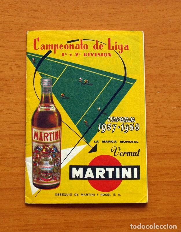 Coleccionismo deportivo: Calendario de liga 1957-1958, 57-58 - Vermut Martini Rossi - Foto 2 - 147456346