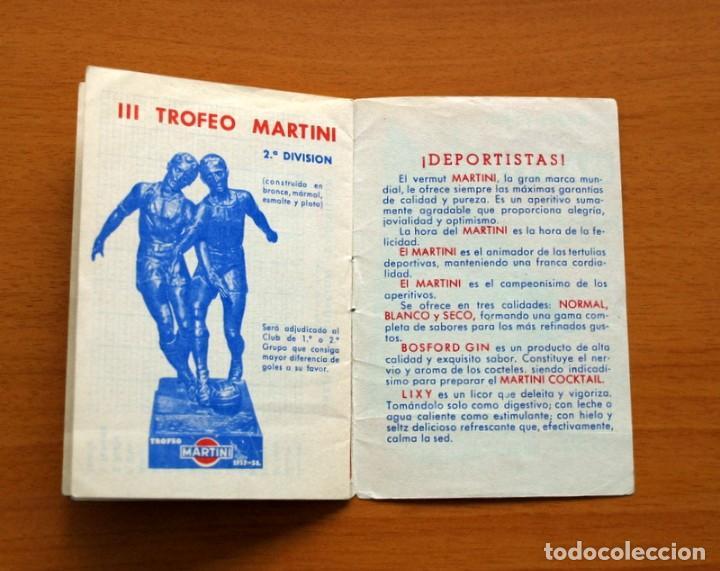 Coleccionismo deportivo: Calendario de liga 1957-1958, 57-58 - Vermut Martini Rossi - Foto 9 - 147456346