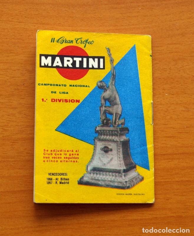 Coleccionismo deportivo: Calendario de liga 1957-1958, 57-58 - Vermut Martini Rossi - Foto 10 - 147456346