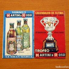 Coleccionismo deportivo: CALENDARIO DE LIGA 1949-1950, 49-50 - VERMUT MARTINI ROSSI. Lote 147458570