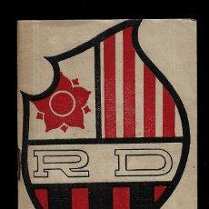 Coleccionismo deportivo: REUS DEPORTIVO - CALENDARIO DE FUTBOL - TEMPORADA 1941-42 - CON FOTOS DE LOS JUGADORES. Lote 147739150