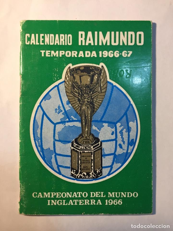 CALENDARIO NACIONAL DE LIGA,(1966/1967). (Coleccionismo Deportivo - Documentos de Deportes - Calendarios)