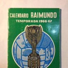 Coleccionismo deportivo: CALENDARIO NACIONAL DE LIGA,(1966/1967).. Lote 147775984
