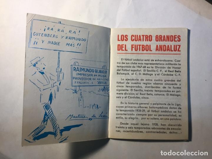Coleccionismo deportivo: Calendario Nacional de Liga,(1967/1968). - Foto 2 - 147777637