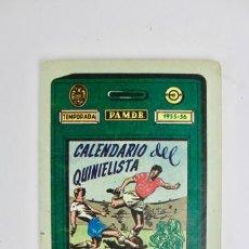 Coleccionismo deportivo: FUT-110 CALENDARIO QUINIELISTA .AÑOS 1955-1956.. Lote 147870638