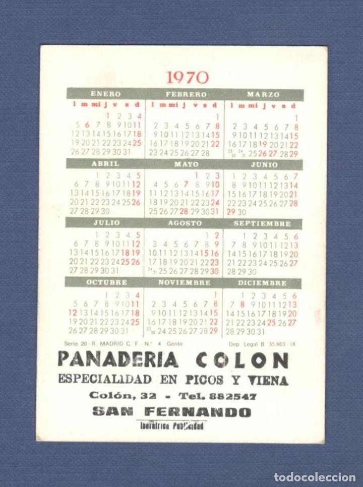 Calendario Real Madrid.Calendario Real Madrid Serie 20 Nº 4 Paco Gento Ano 1970