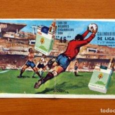 Coleccionismo deportivo: CALENDARIO DE LIGA 1ª Y 2ª DIVISIÓN 1972-1973, 72-73 - CIGARRILLOS 46. Lote 148048454