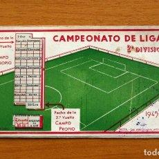 Coleccionismo deportivo: CALENDARIO - CAMPEONATO DE LIGA 2ª DIVISIÓN 1945-1946, 45-46 - LAMPARA METAL. Lote 148049950