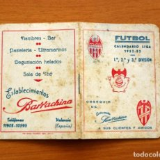 Coleccionismo deportivo: CALENDARIO DE LIGA 1952-1953, 52-53 - ESTABLECIMIENTOS BARRACHINA. Lote 148191294