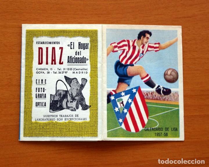 CALENDARIO DE LIGA 1957-1958, 57-58 - ATLÉTICO MADRID - ESTABLECIMIENTOS DÍAZ - MADRID (Coleccionismo Deportivo - Documentos de Deportes - Calendarios)