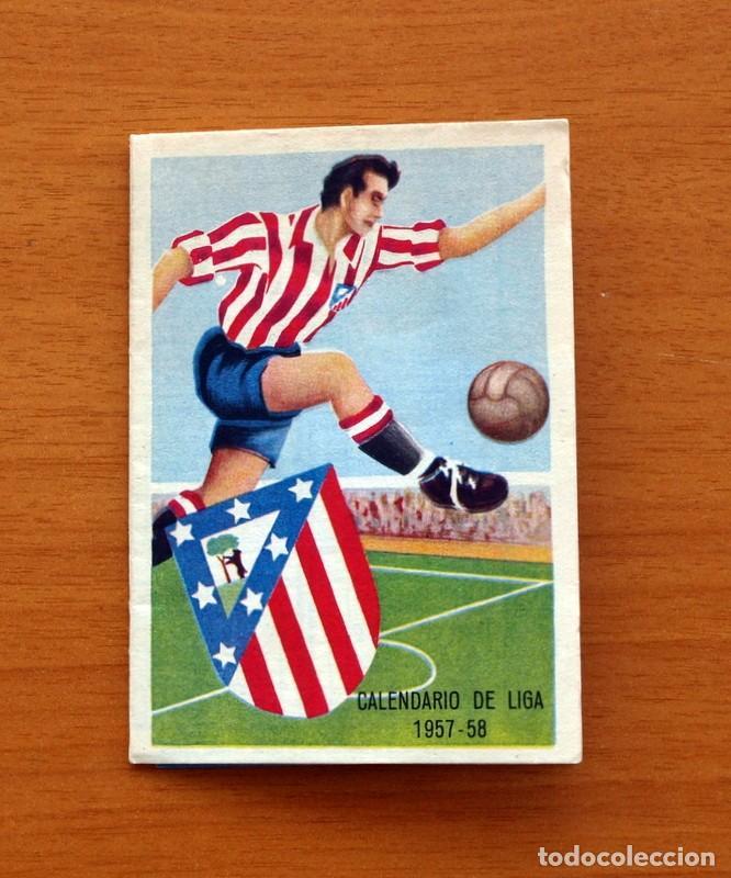 Coleccionismo deportivo: Calendario de Liga 1957-1958, 57-58 - Atlético Madrid - Establecimientos Díaz - Madrid - Foto 2 - 148191578