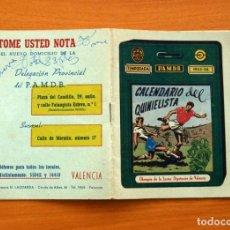 Coleccionismo deportivo: CALENDARIO DE LIGA 1955-1956, 55-56 - CALENDARIO DEL QUINIELISTA, DIPUTACIÓN DE VALENCIA. Lote 148191862