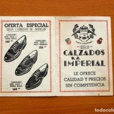 Coleccionismo deportivo: CALENDARIO DE LIGA 1952-1953, 52-53 - CALZADOS LA IMPERIAL . Lote 148200002