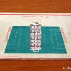 Coleccionismo deportivo: CALENDARIO DE LIGA 1944-1945, 44-45 - LAMPARA METAL. Lote 148202866
