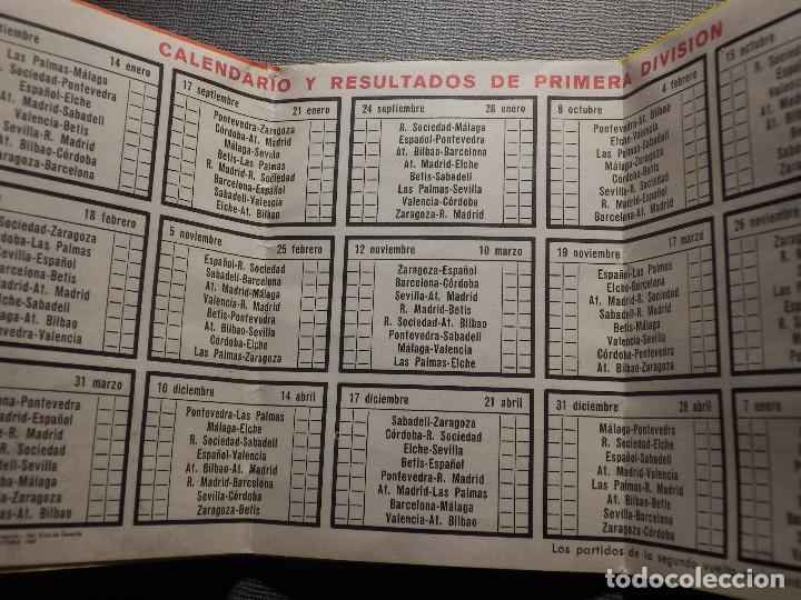 Coleccionismo deportivo: Calendario de Liga 1967-68 - 67-1968 - Con publicidad cigarrillos Rumbo - - Foto 2 - 148280650