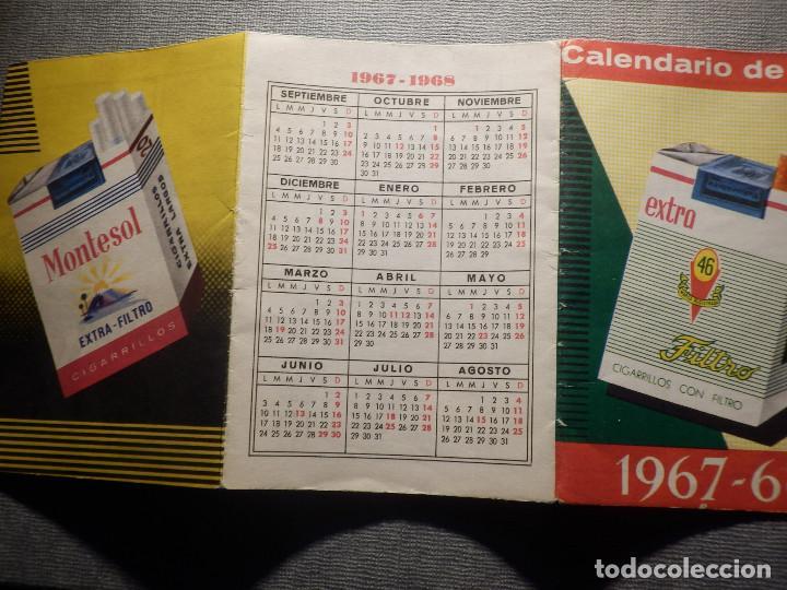 Coleccionismo deportivo: Calendario de Liga 1967-68 - 67-1968 - Con publicidad cigarrillos Rumbo - - Foto 3 - 148280650