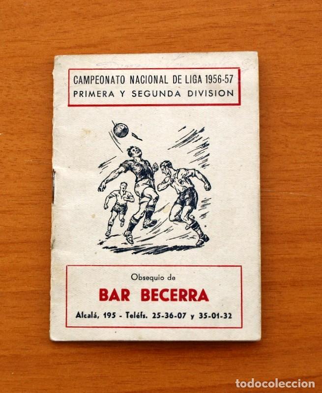 Coleccionismo deportivo: Calendario de Liga 1956-1957, 56-57 - Fútbol - Bar Becerra - Madrid - Foto 2 - 148322798