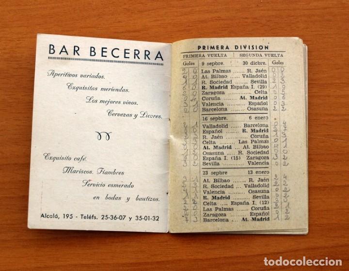 Coleccionismo deportivo: Calendario de Liga 1956-1957, 56-57 - Fútbol - Bar Becerra - Madrid - Foto 3 - 148322798