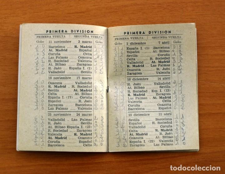 Coleccionismo deportivo: Calendario de Liga 1956-1957, 56-57 - Fútbol - Bar Becerra - Madrid - Foto 5 - 148322798