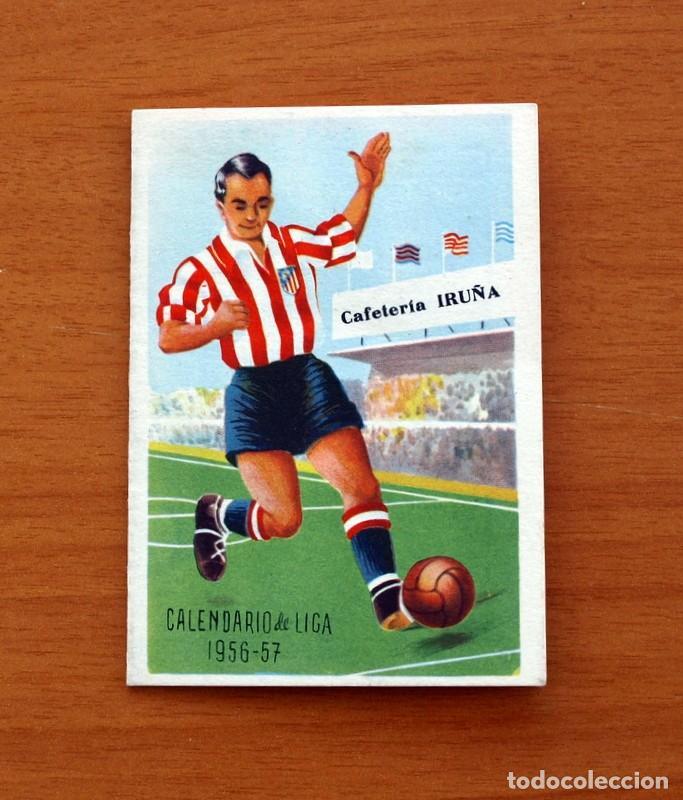 Calendario Atletico Madrid.Calendario De Liga 1956 1957 56 57 Futbol Atletico Madrid Cafeteria Bar Iruna Madrid