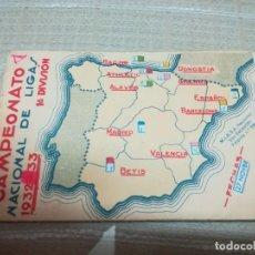 Coleccionismo deportivo: CALENDARIO CAMPEONATO NACIONAL DE LIGA 1932/33 PRIMERA DIVISION MIREN FOTOS . Lote 148700690