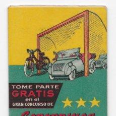 Coleccionismo deportivo: CALENDARIO TEMP. 1955/56 - GABARDINAS DE LAS 3 ESTRELLAS - BARCELONA - CON SORTEO. Lote 148704874