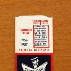 Coleccionismo deportivo: CALENDARIO DE LIGA 1956-1957, 56-57 - FÚTBOL - DICCIONARIO VOX - MADRID. Lote 148722942