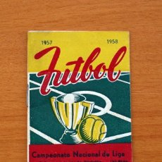 Coleccionismo deportivo: CALENDARIO CAMPEONATO NACIONAL DE LIGA 1957-1958, 57-58 - FÚTBOL. Lote 148723226
