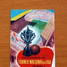 Coleccionismo deportivo: CALENDARIO TORNEO NACIONAL DE LIGA 1962-1963, 62-63 - FÚTBOL. Lote 148726038