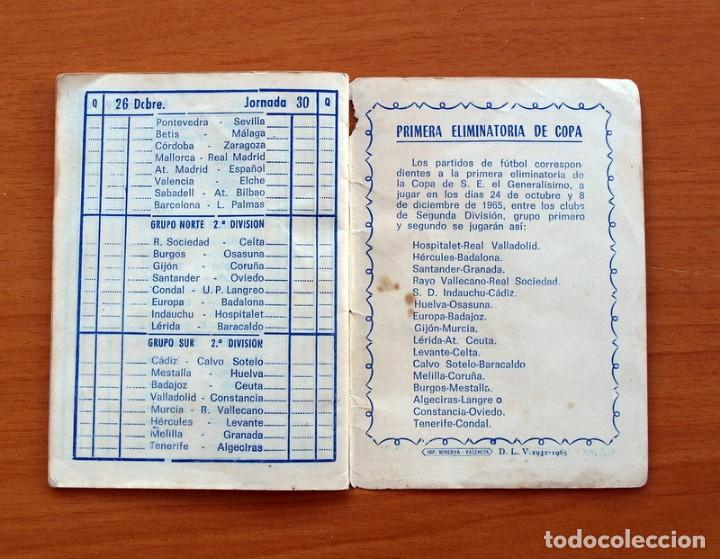 Coleccionismo deportivo: Calendario de Liga 1965-1966, 65-66 - Fútbol - Calzados Dalmau - Valencia - Foto 17 - 148737774