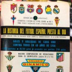 Coleccionismo deportivo: CALENDARIO DINAMICO LIGA FUTBOL 1972-1973. Lote 152028590