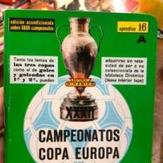 Collectionnisme sportif: CALENDARIO DINAMICO FUTBOL XXXII CAMPEONATOS COPA DE EUROPA DE CAMPEONES DE LIGA. Lote 219041998