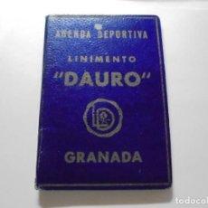 Coleccionismo deportivo: AGENDA DEPORTIVA LINIMENTO DAURO GRANADA AÑO 1946-1947.-1ª Y 2ª DIVISION FOTOGRAFIAS DE FUTBOLISTAS. Lote 152906130