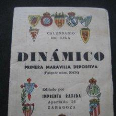 Coleccionismo deportivo: CALENDARIO FUTBOL DINAMICO LIGA 1953-1954. FOTOS EQUIPOS Y JUGADORES. Lote 154851442