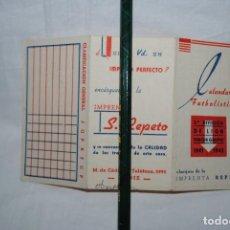 Coleccionismo deportivo: CALENDARIO DE FUTBOL 1941 - 42 . Lote 155295494