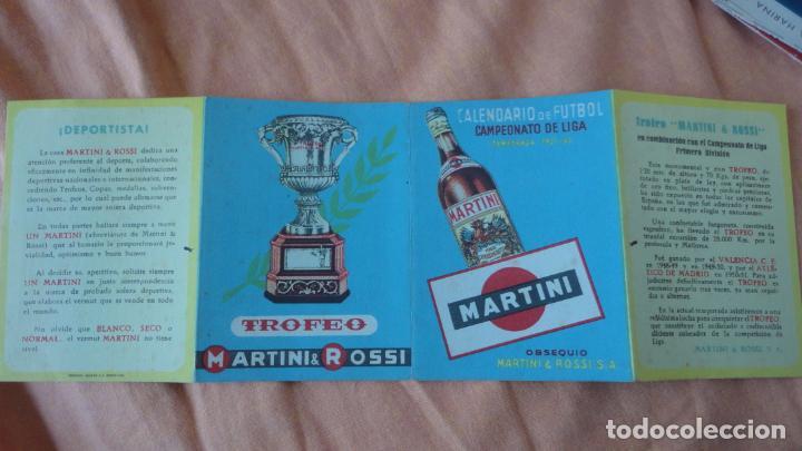 CALENDARIO CAMPEONATO DE LIGA FUTBOL 1951-1952 MARTINI & ROSI (Coleccionismo Deportivo - Documentos de Deportes - Calendarios)