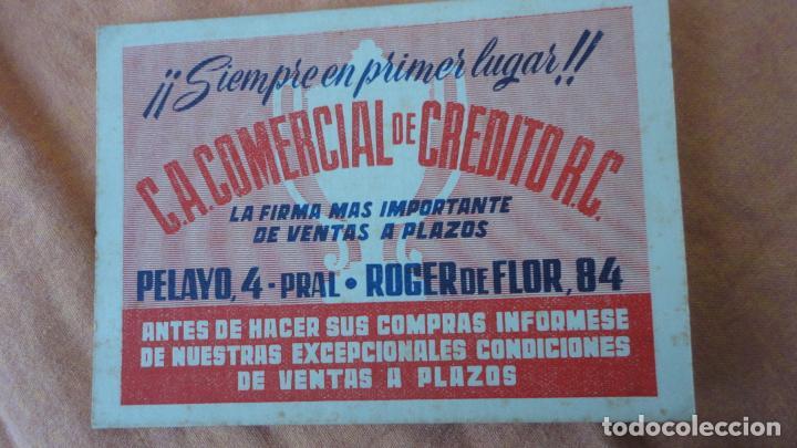ANTIGUO CALENDARIO CAMPEONATO LIGA FUTBOL 1949-1950.C.A COMERCIAL DE CREDITO R.C (Coleccionismo Deportivo - Documentos de Deportes - Calendarios)