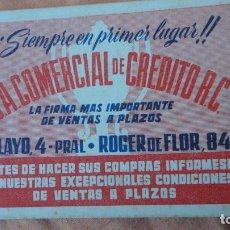 Coleccionismo deportivo: ANTIGUO CALENDARIO CAMPEONATO LIGA FUTBOL 1949-1950.C.A COMERCIAL DE CREDITO R.C. Lote 155995242