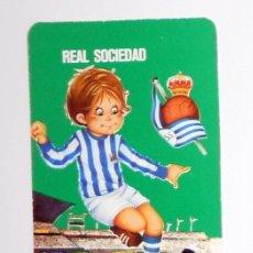 Coleccionismo deportivo: CALENDARIO DE BOLSILLO ANTIGUO AÑO 1976 FÚTBOL VINTAGE REAL SOCIEDAD PUBLICIDAD RESTAURANTE IRUN. Lote 156854722