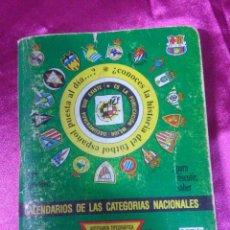 Coleccionismo deportivo: CALENDARIOS DE LAS CATEGORIAS NACIONALES, ARTESANÍA TOPOGRÁFICA DINÁMICO 1995/1996. Lote 158418134