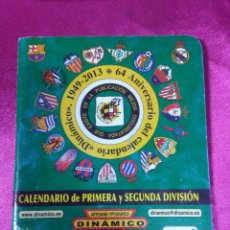 Coleccionismo deportivo: CALENDARIO DE PRIMERA Y SEGUNDA DIVISIÓN ARTESANÍA TOPOGRÁFICA DINÁMICO 2013/2014. Lote 158418394