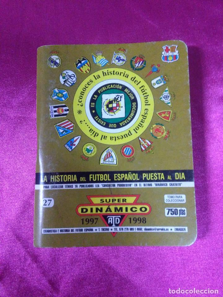 ESTADISTICA DE AYER Y DE HOY, ARTESANÍA TOPOGRÁFICA DINÁMICO 1997/1998 (Coleccionismo Deportivo - Documentos de Deportes - Calendarios)