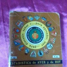 Coleccionismo deportivo: ESTADISTICA DE AYER Y DE HOY, ARTESANÍA TOPOGRÁFICA DINÁMICO 1981/1982. Lote 158420230