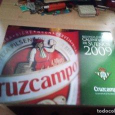 Coleccionismo deportivo: CALENDARIO.BETIS & CRUZCAMPO.CALENDARIOS DE SUEÑOS 2009.DE PARED. Lote 158892050